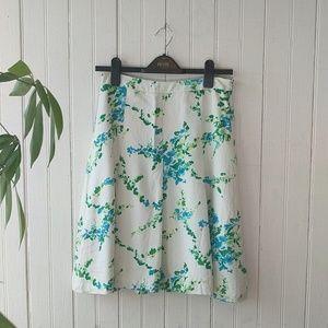 🆕Ann Taylor Silk floral print pleated midi skirt